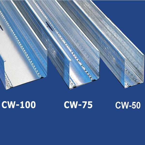 BaloBau függőleges falvázprofil - 0,5 mm CW75 - 3 fm/db